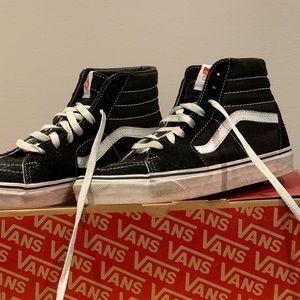 Vans high top sneakers boys sz 7